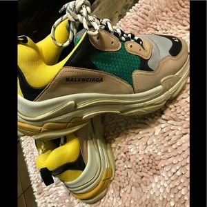 Balenciaga Shoes - Balenciaga Triple S Trainer 2.0 'Green Yellow 2018